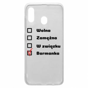 Phone case for Samsung A20 Barmaid, for her - PrintSalon