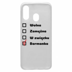 Phone case for Samsung A40 Barmaid, for her - PrintSalon