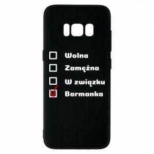 Phone case for Samsung S8 Barmaid, for her - PrintSalon