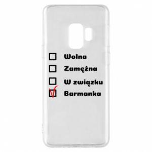 Phone case for Samsung S9 Barmaid, for her - PrintSalon