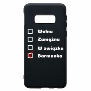 Phone case for Samsung S10e Barmaid, for her - PrintSalon