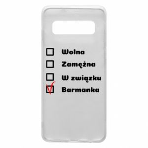 Phone case for Samsung S10 Barmaid, for her - PrintSalon