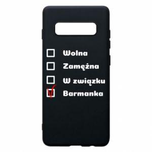 Phone case for Samsung S10+ Barmaid, for her - PrintSalon