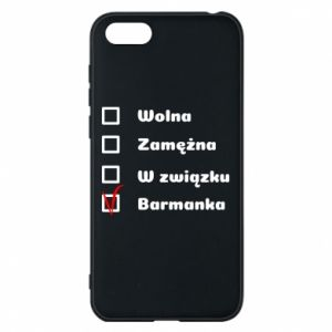 Phone case for Huawei Y5 2018 Barmaid, for her - PrintSalon