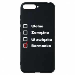 Phone case for Huawei Y6 2018 Barmaid, for her - PrintSalon