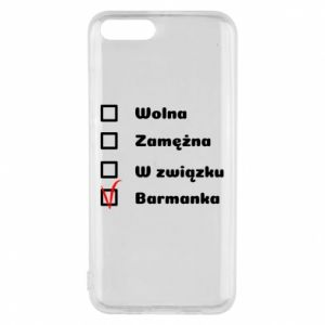 Phone case for Xiaomi Mi6 Barmaid, for her - PrintSalon