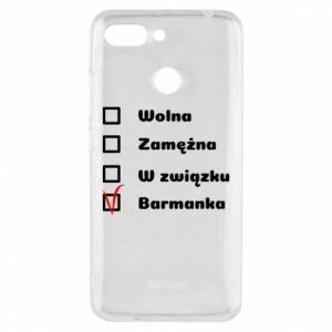 Phone case for Xiaomi Redmi 6 Barmaid, for her - PrintSalon