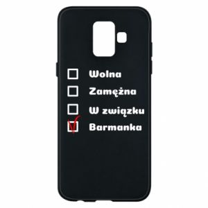 Phone case for Samsung A6 2018 Barmaid, for her - PrintSalon