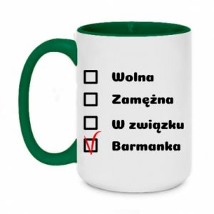Two-toned mug 450ml Barmaid, for her