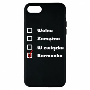 Phone case for iPhone 8 Barmaid, for her - PrintSalon