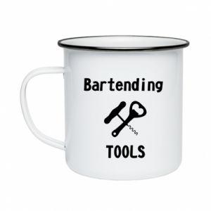 Kubek emaliowany Bartending tools