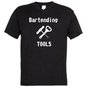 Męska koszulka V-neck Bartending tools
