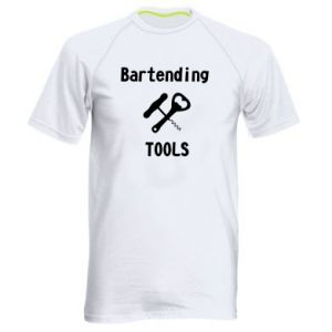Men's sports t-shirt Bartending tools