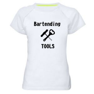 Women's sports t-shirt Bartending tools