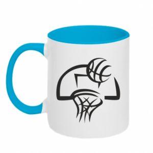 Kubek dwukolorowy Basketball