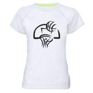 Damska koszulka sportowa Basketball