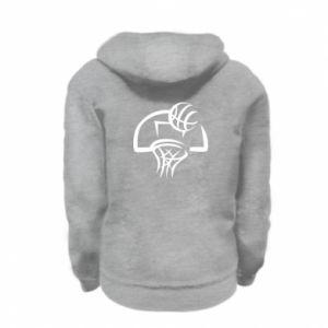 Kid's zipped hoodie % print% Basketball
