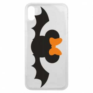Etui na iPhone Xs Max Bat with orange bow