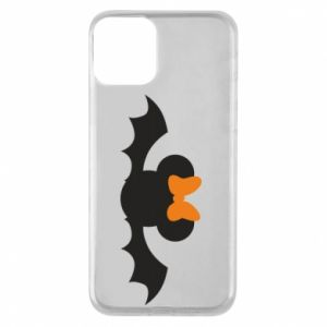 Etui na iPhone 11 Bat with orange bow