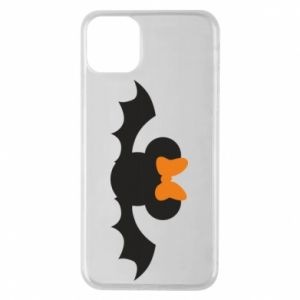 Etui na iPhone 11 Pro Max Bat with orange bow