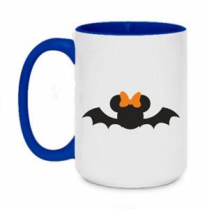 Kubek dwukolorowy 450ml Bat with orange bow