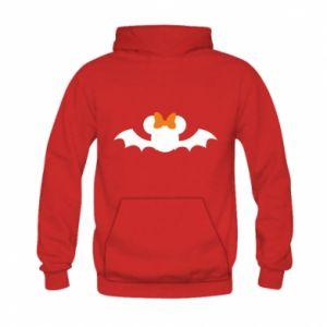 Bluza z kapturem dziecięca Bat with orange bow