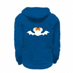 Bluza na zamek dziecięca Bat with orange bow