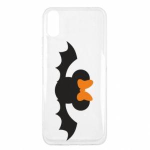 Etui na Xiaomi Redmi 9a Bat with orange bow