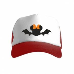 Czapka trucker dziecięca Bat with orange bow