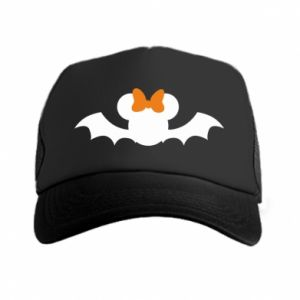 Czapka trucker Bat with orange bow