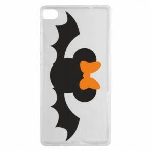 Etui na Huawei P8 Bat with orange bow