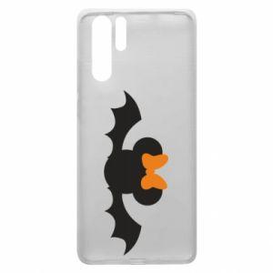 Etui na Huawei P30 Pro Bat with orange bow