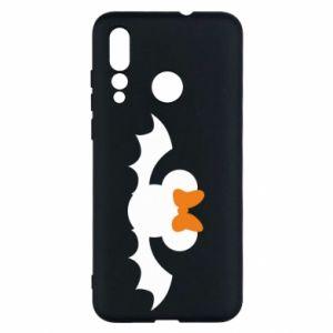 Etui na Huawei Nova 4 Bat with orange bow