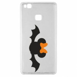 Etui na Huawei P9 Lite Bat with orange bow