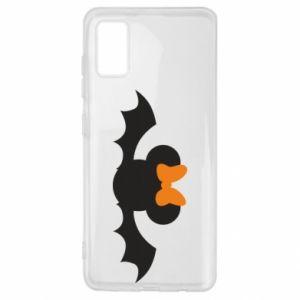Etui na Samsung A41 Bat with orange bow