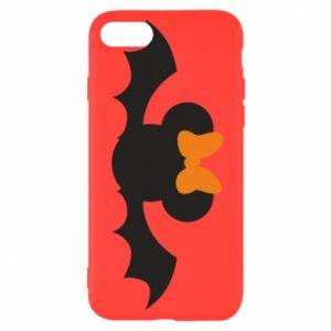 Etui na iPhone SE 2020 Bat with orange bow