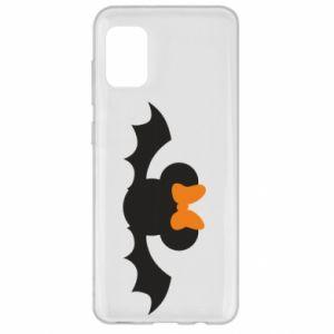 Etui na Samsung A31 Bat with orange bow