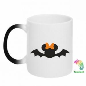 Chameleon mugs Bat with orange bow