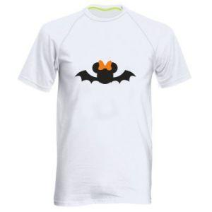 Koszulka sportowa męska Bat with orange bow