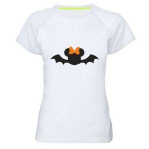 Koszulka sportowa damska Bat with orange bow