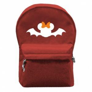 Plecak z przednią kieszenią Bat with orange bow