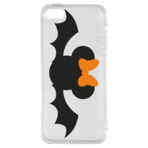 Etui na iPhone 5/5S/SE Bat with orange bow