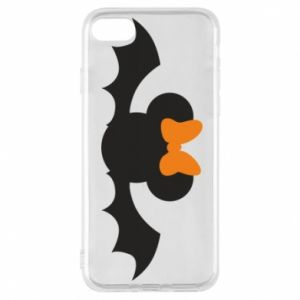 Etui na iPhone 7 Bat with orange bow