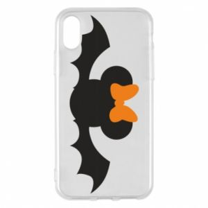 Etui na iPhone X/Xs Bat with orange bow
