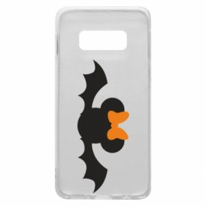 Etui na Samsung S10e Bat with orange bow
