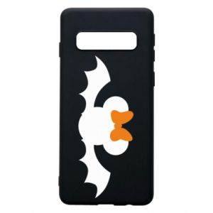 Etui na Samsung S10 Bat with orange bow