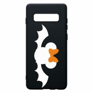 Etui na Samsung S10+ Bat with orange bow