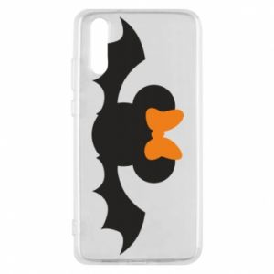 Etui na Huawei P20 Bat with orange bow