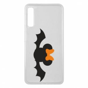 Etui na Samsung A7 2018 Bat with orange bow