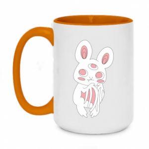 Two-toned mug 450ml Bat with three eyes